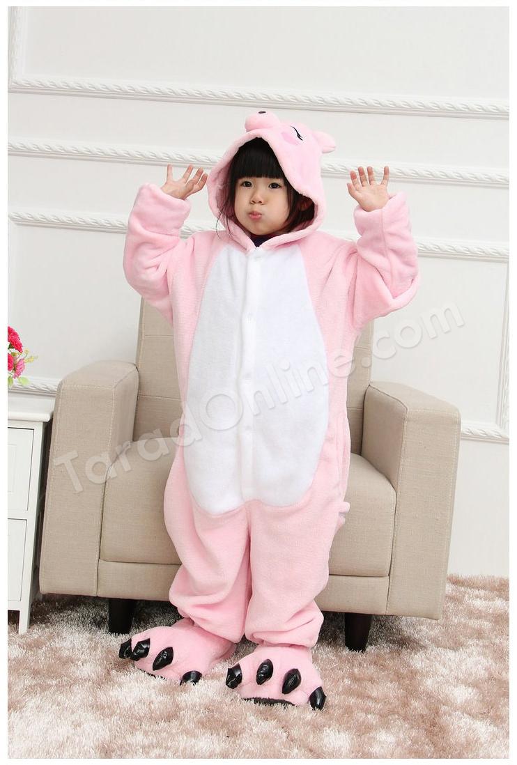 ชุดนอนมาสคอตเด็ก หมูน้อย Size 105 (ขนาด 120 cm - 130 cm)