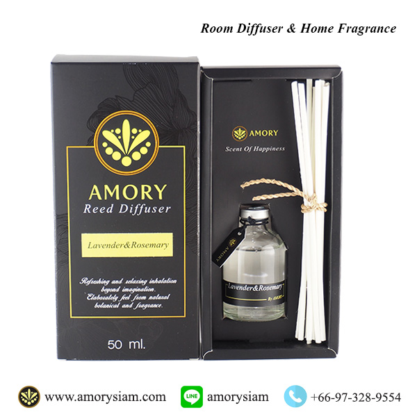 กลิ่น Lavender & Rosemary Scent 50 ml. ก้านไม้หอม Aroma Reed Diffuser