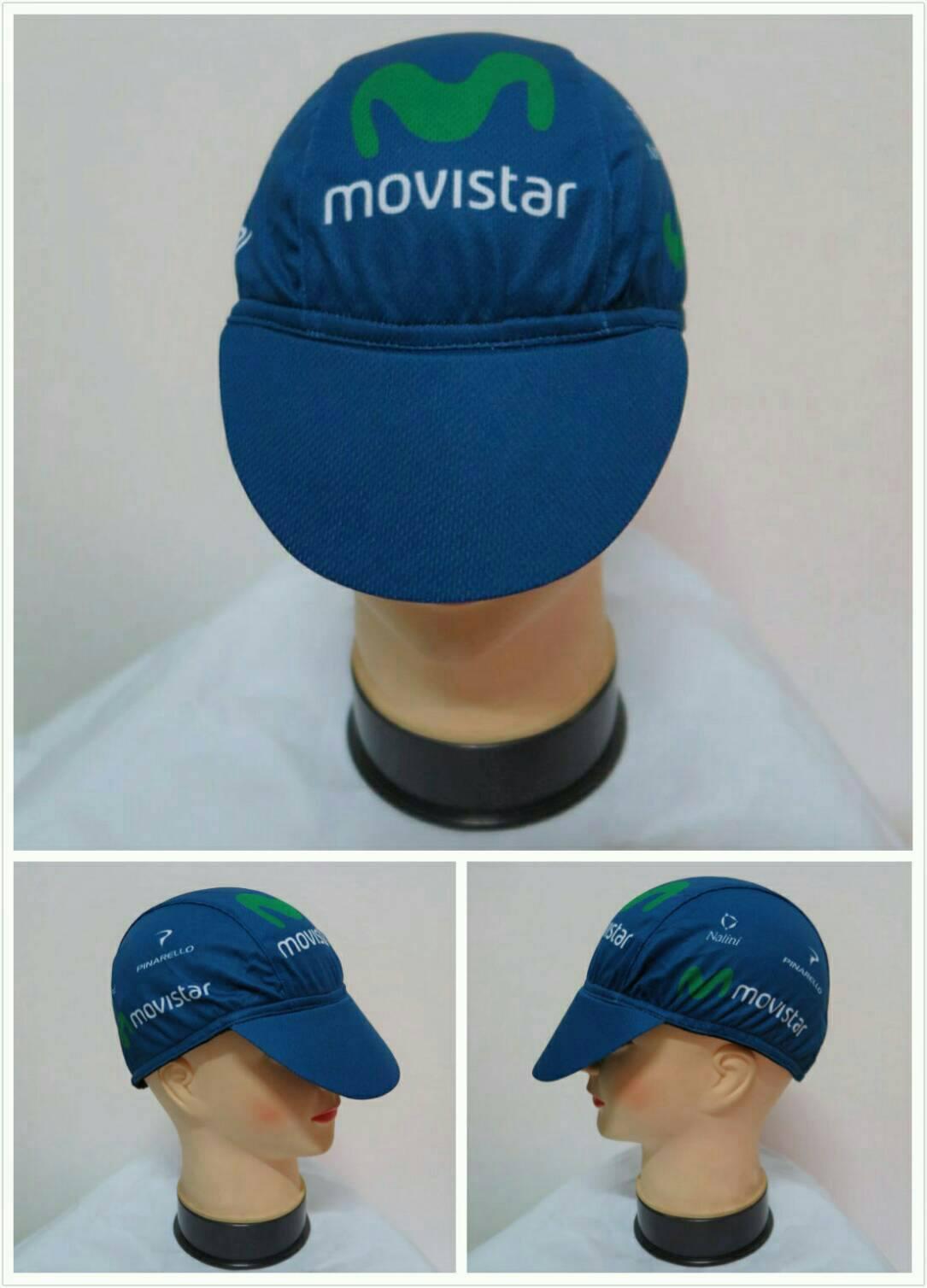หมวกแก๊ป ลาย movista สีกรมท่า (แอดไลน์ @pinpinbike ใส่ @ ข้างหน้าด้วยนะคะ)