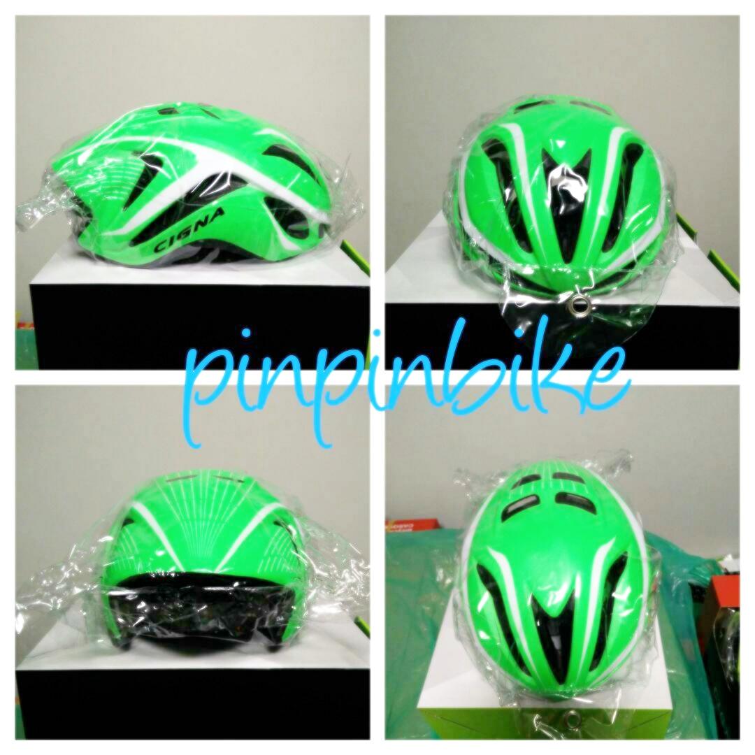 หมวกจักรยาน CIGNA ทรงแอโรว์ (แอดไลน์ @pinpinbike ใส่ @ ข้างหน้าด้วยนะคะ)