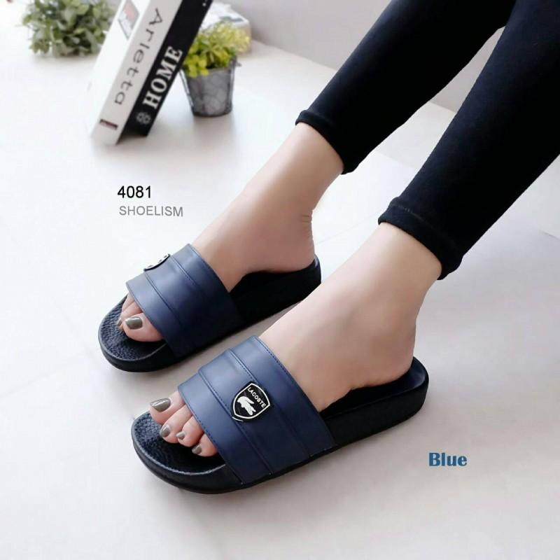 รองเท้าแตะ แบบสวม เปิดส้น ซิลิโคน (สีน้ำเงิน )