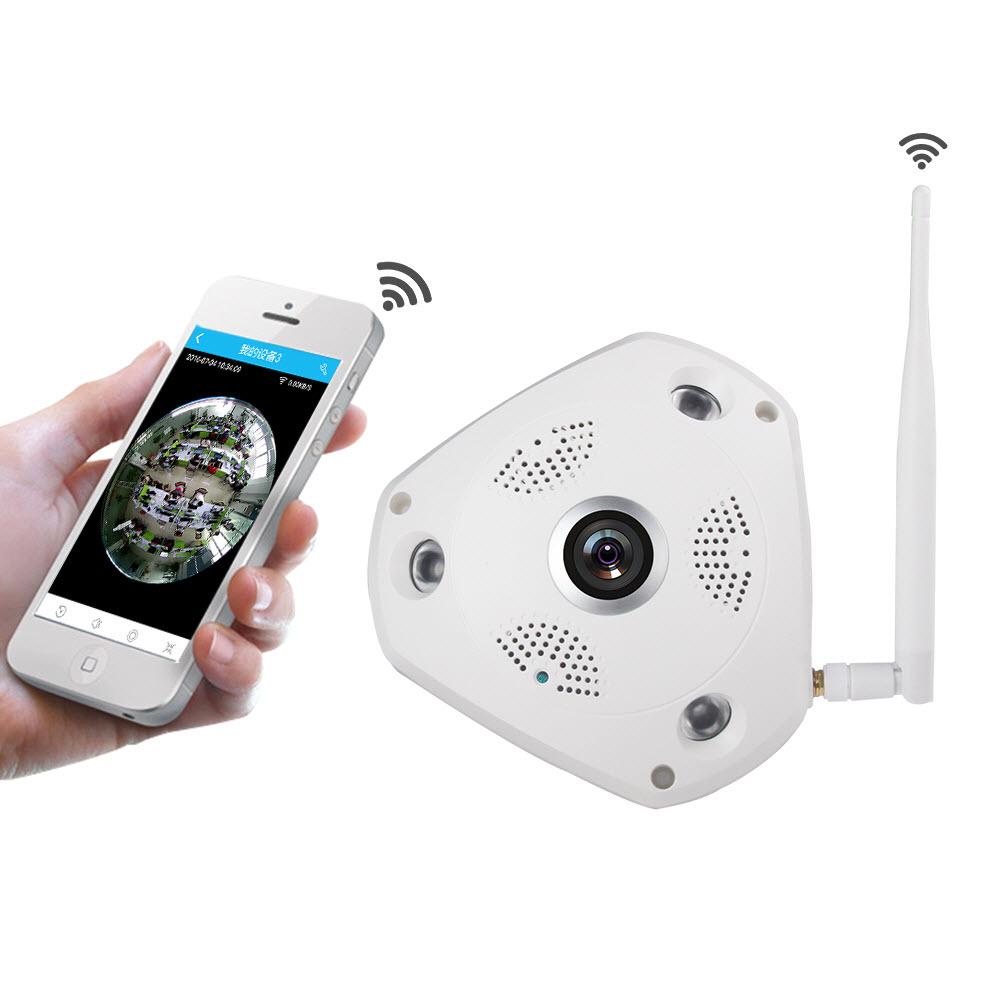CCTV IP Camera VR 360 FISHEYE HD 1.3M WIFI Antenna