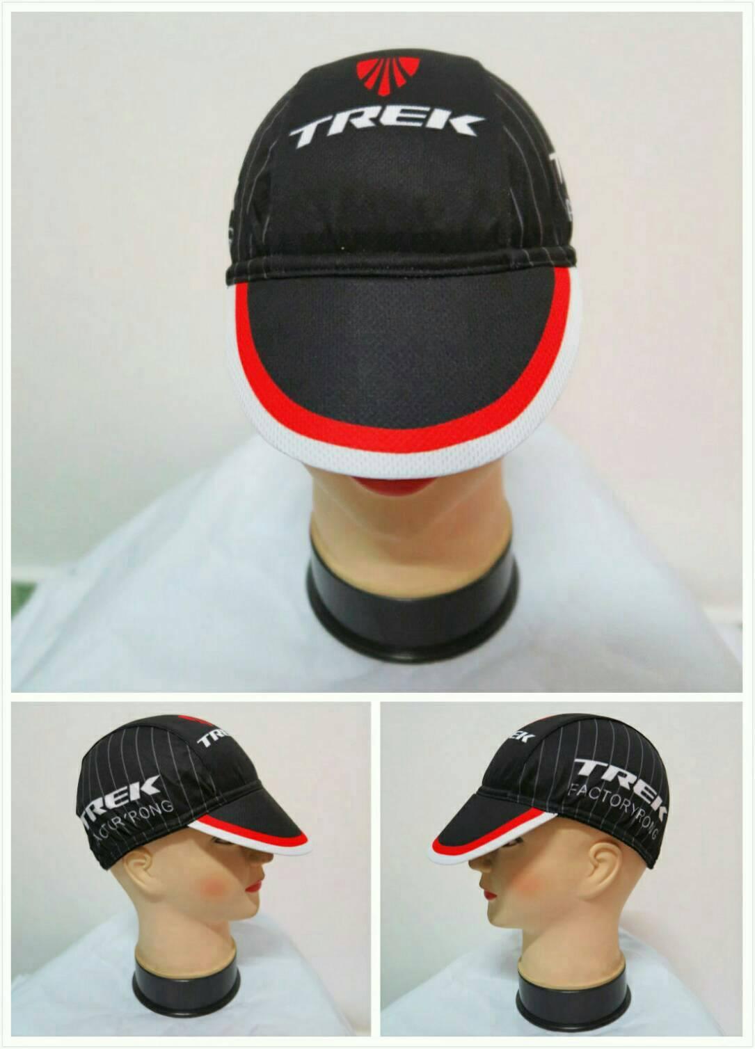 หมวกแก๊ป ลาย trek ดำแดง (แอดไลน์ @pinpinbike ใส่ @ ข้างหน้าด้วยนะคะ)