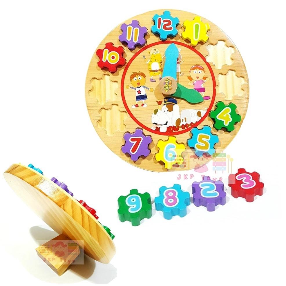 นาฬิกาบล็อกรูปทรง ตัวเลขมีขาตั้ง