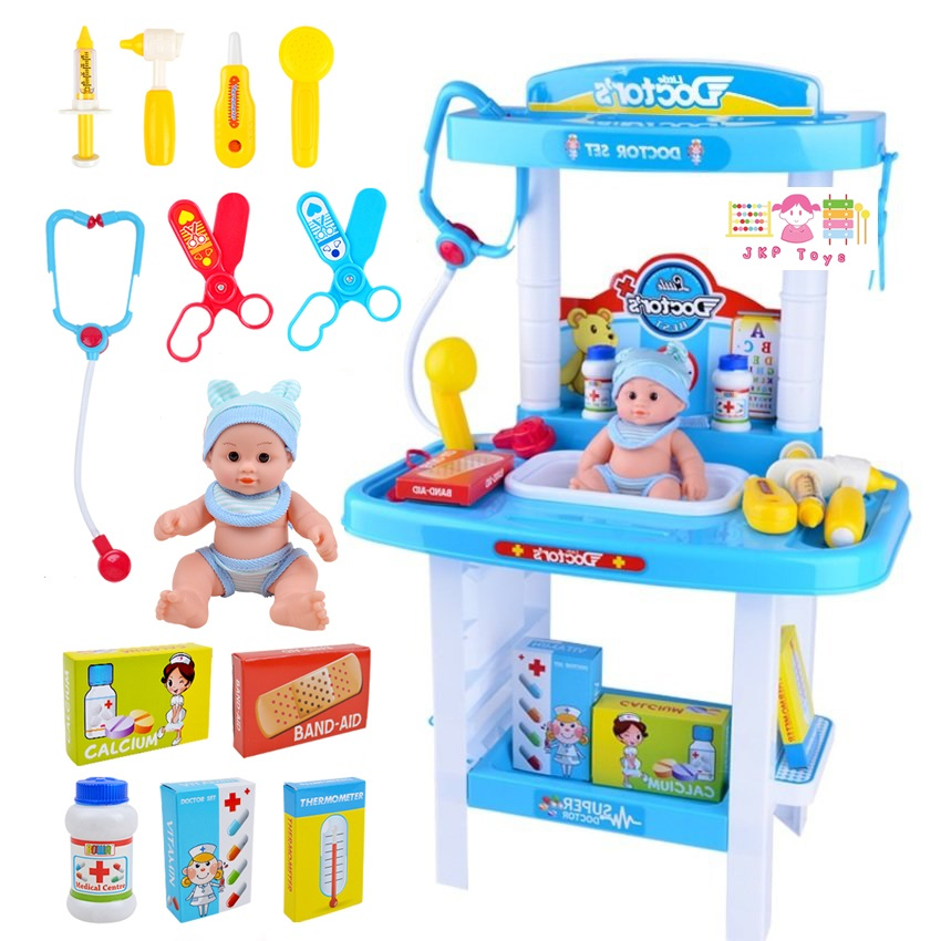 ชุดโต๊ะคุณหมอพร้อมอุปกรณ์รักษาคนไข้