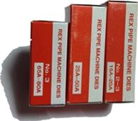 REX เร๊กซ์ ฟันต๊าบ เกลียวท่อไฟฟ้า NPT คอนดูด สำหรับเครื่องต๊าบ REX รุ่น N80A, N50A, N100A, 80ADX DIES