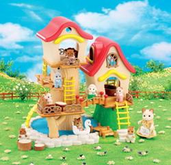 [หมดแล้ว] บ้านซิลวาเนียน..เบบี้แฟร์กราวด์ (UK) Sylvanian Families Baby Fairground V3%