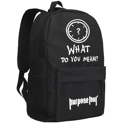 กระเป๋าเป้สะพายหลัง Justin Bieber พิมพ์ลาย มี2สี