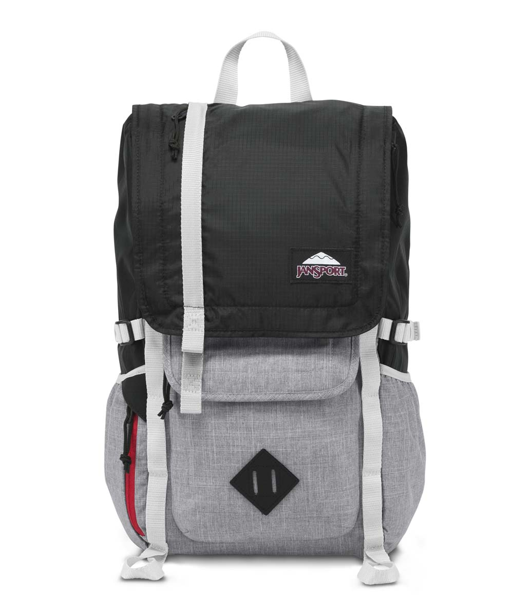 JanSport รุ่น HATCHET DL - Black Poly Ripstop/Grey Marl