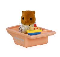 ซิลวาเนียน เบบี้บีเวอร์กับอ่างอาบน้ำในกล่องหิ้ว (EU) Sylvanian Families Carry Bag Baby Beaver & Toy Boat