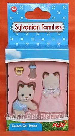 ซิลวาเนียน คู่แฝดคีทส์แมวสีครีม ท่าคลาน-นอน (Sylvanian Families Cream Cat Twins)