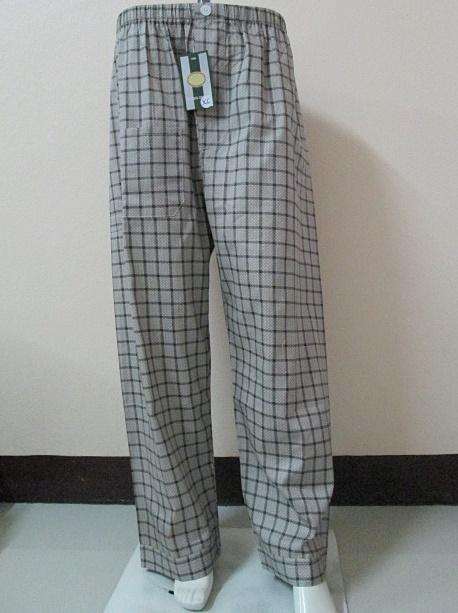 กางเกงนอนขายาว(ชาย) ผ้าคัตตอน เกรด เอ แบบลาย โทนสีน้ำตาลเข้ม ไซส์ XL