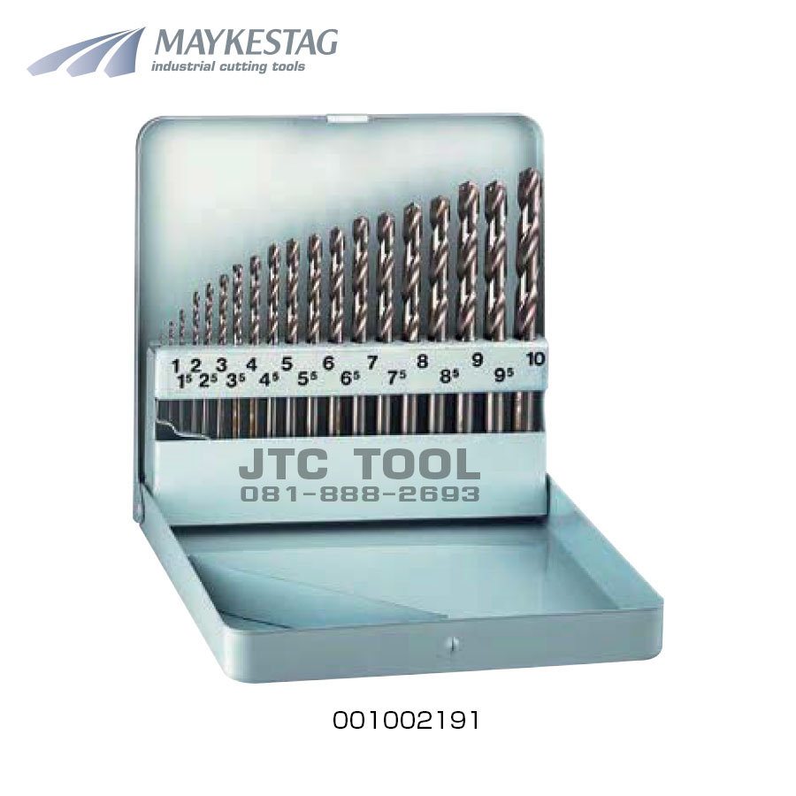 ชุดดอกสว่านไฮสปีด / HSS Drill Set (001013111) Maykestag