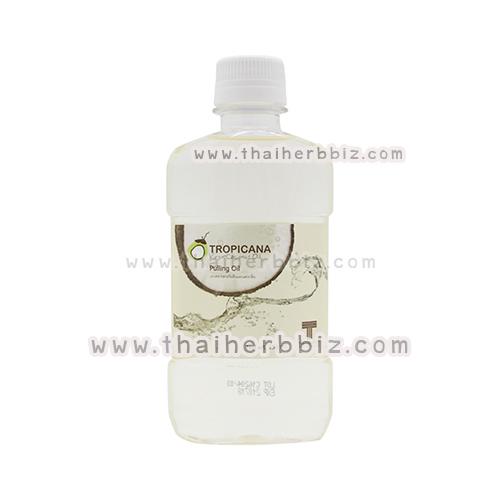 ทรอปิคานา ออยล์ พูลลิ่งออยล์ น้ำมันมะพร้าวสำหรับบ้วนปาก กลิ่น COCONUT 250 มล. Pulling Oil