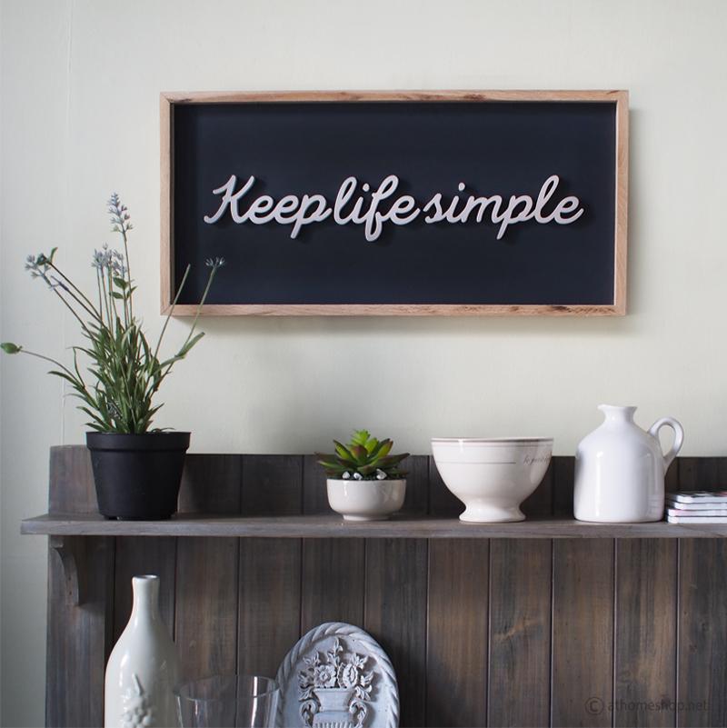 วอลล์อาร์ตตัวอักษร3D Keep Life Simple