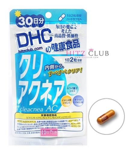 DHC Cleacnea AC (30วัน) ป้องกันและแก้ปัญหาสิวโดยเฉพาะ ช่วยปรับสมดุลของผิว ให้ผิวเรียบเนียน สดใส ชุ่มชิ้น ไม่แห้งกร้าน