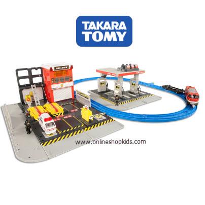 เซ็ทของเล่นรถโทมิกา Tomica Hypercity Rescue Search and Repair Headquarters
