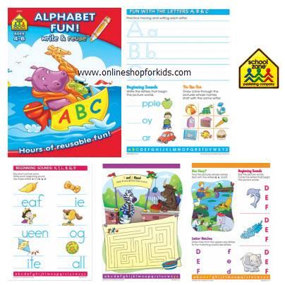 สมุดหัดเขียน แบบลบได้ ABCs Alphabet Fun Workbook - Write-on & Wipe-off, Red