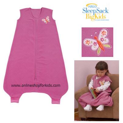 (มือสอง) ชุดถุงนอน HALO Big Kids SleepSack Wearable Blanket Micro Fleece, Pink (2-3T)