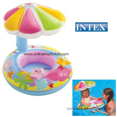ห่วงยางสอดขา มีหลังคา Intex Fish and Friends baby Float