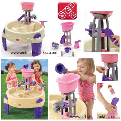 ชุดโต๊ะเล่นน้ำ Step2 Girl's Big Splash Waterpark, Pink-Purple