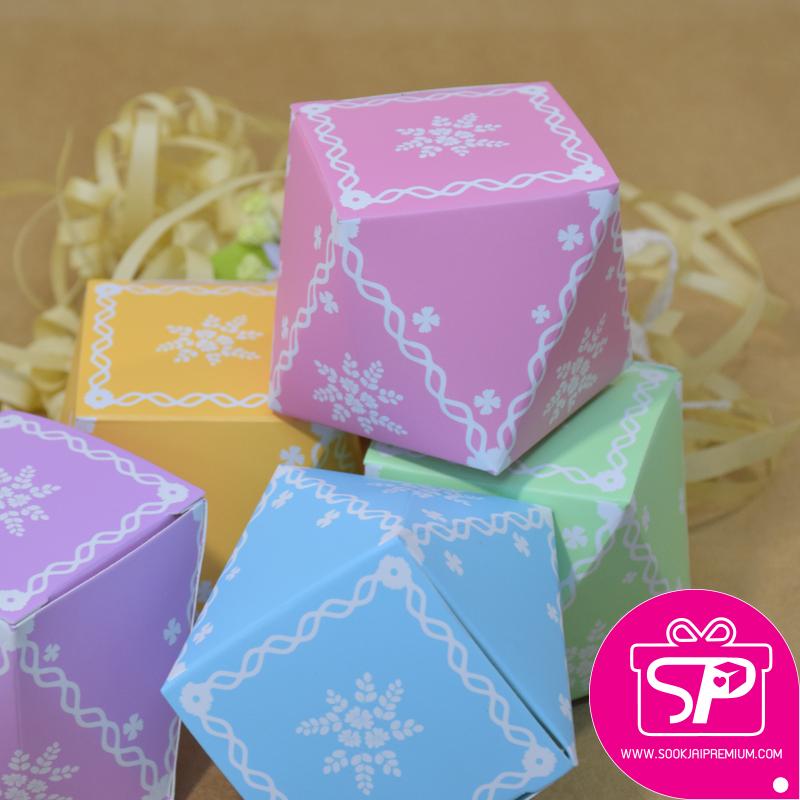 กล่องของขวัญขนาดเล็ก ทรงกะรัต ขนาด 6x6x6 ซม.