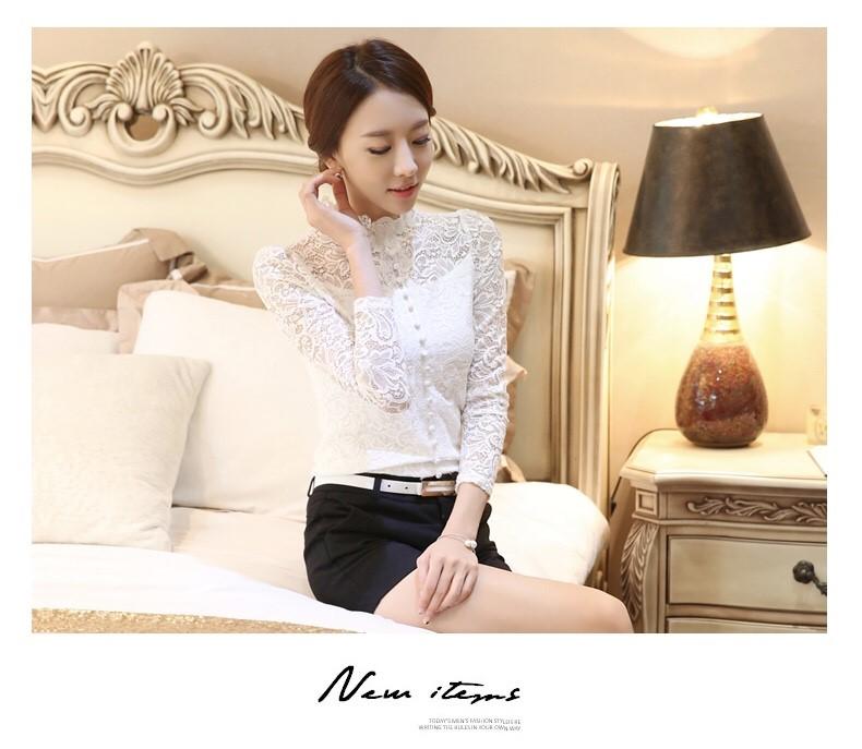 รหัส MN11 เสื้อไสตล์เกาหลี ดีเทลผ้าลูกไม้เนื้อนิ่มทรงเข้ารูป คอติด แขนยาวแต่งกระดุมหน้า งานมีซับใน การตัดเย็บเรียบร้อยคุณภาพดีค่ะ