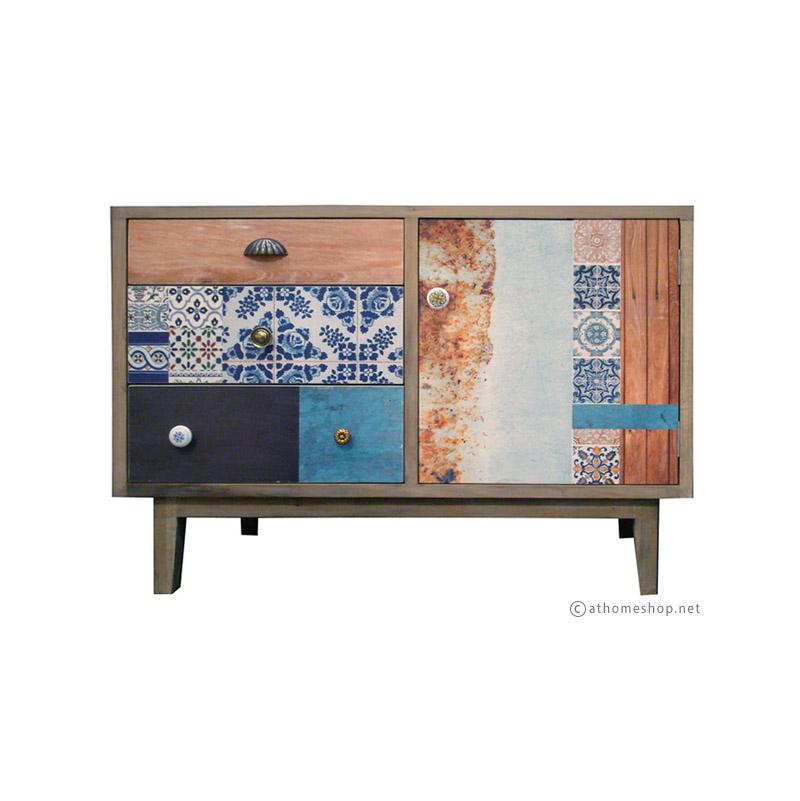 ตู้มินิไม้ ลายกราฟฟิค Mini cabinet