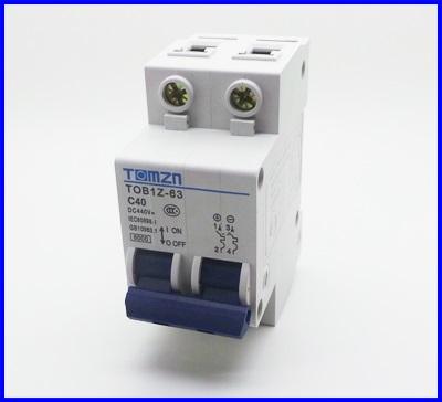 เซอร์กิตเบรกเกอร์ อุปกรณ์ป้องกันไฟฟ้า เบรกเกอร์ป้องกันไฟช๊อต 2P 40A DC 440V Circuit breaker MCB