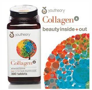 Youtheory Collagen 30 Tablets (แบ่งขาย) Collagen Type1,2,3 พร้อมกรดอะมิโนต่างๆที่จำเป็นถึง 18 ชนิด ช่วยบำรุงผม,ผิวพรรณ,เล็บให้แข็งแรง สุขภาพดี สวยจากภายในถึงภายนอกค่ะ