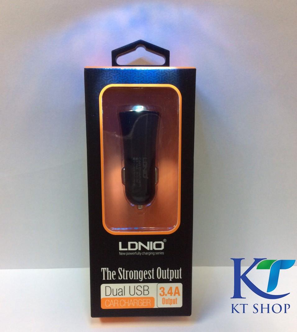 ที่ชาร์จไฟในรถ LDNIO Dual USB Car Charger