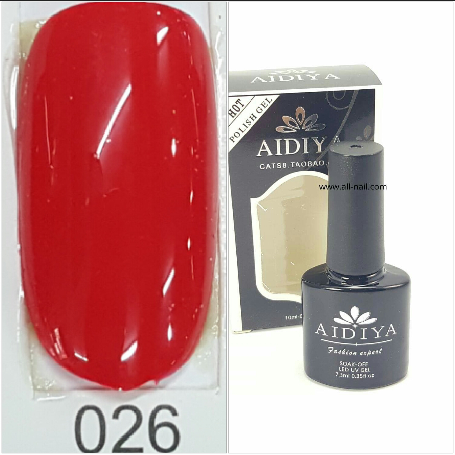 สีเจลทาเล็บ AIDIYA #026