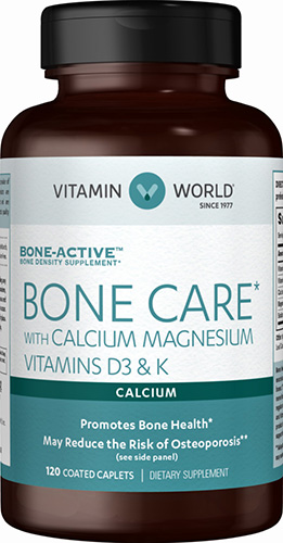 Vitamin World BONE CARE Calcium+Magnesium+D3+K 120 เม็ด ครบทุกตัวในการบำรุงกระดูก