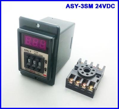 เครื่องตั้งเวลาดิจิตอล ตั้งเวลาเปิดปิดอุปกรณ์ ตั้งเวลา วินาที นาที 24VDC Digital power on time delay relay timer 0.1s-999m LED display