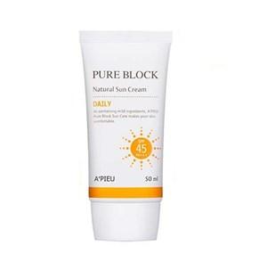 พร้อมส่ง A'PIEU Pure Block Natural Daily Sun cream SPF45/PA+++50ml