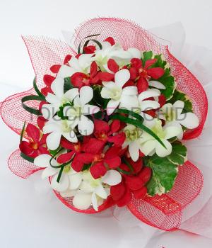 ช่อดอกไม้ Romantic Bouquet รหัส 1007