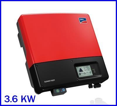 อินเวอร์เตอร์ โซล่าเซลล์ Solar On-Grid Inverter SMA 3600WATT GRID TIE INVERTER 1 phase SB3600TL-21