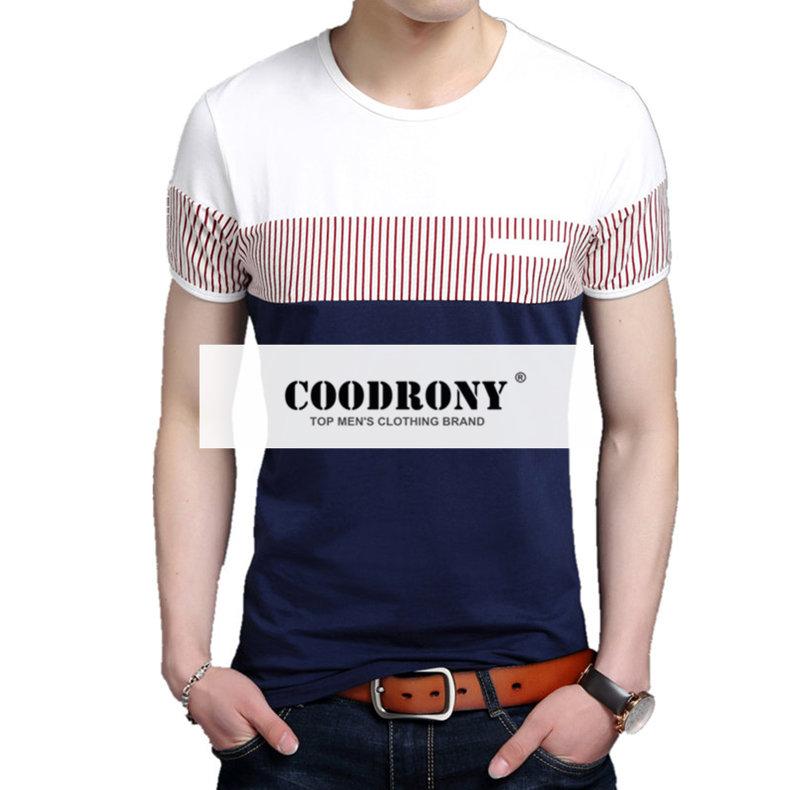 COODRONY เสื้อยืดผู้ชาย ฝ้าย100%