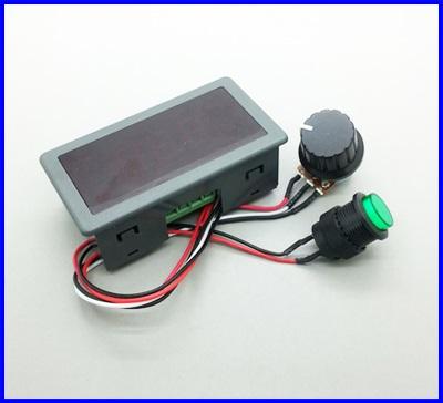 ดิมเมอร์ ควบคุมความเร็วมอเตอร์ดีซี พร้อมจอแสดงผล DC 6-30V12V 24V Max 8A Motor PWM Speed Controller