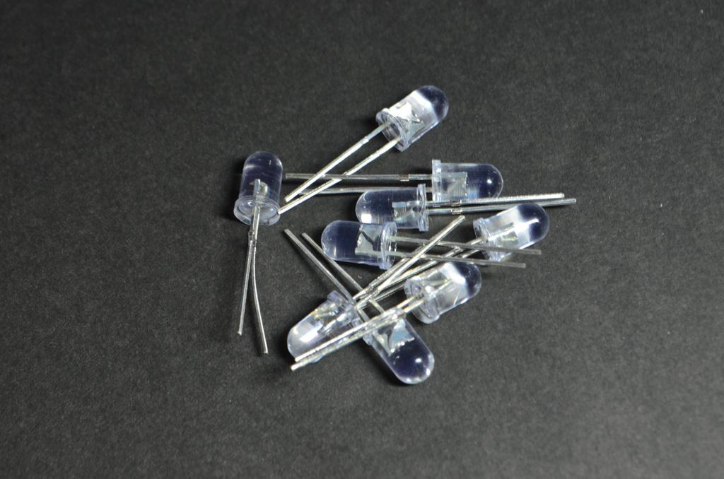 หลอด LED 5mm สีฟ้า (Super Bright) (10 ชิ้น)