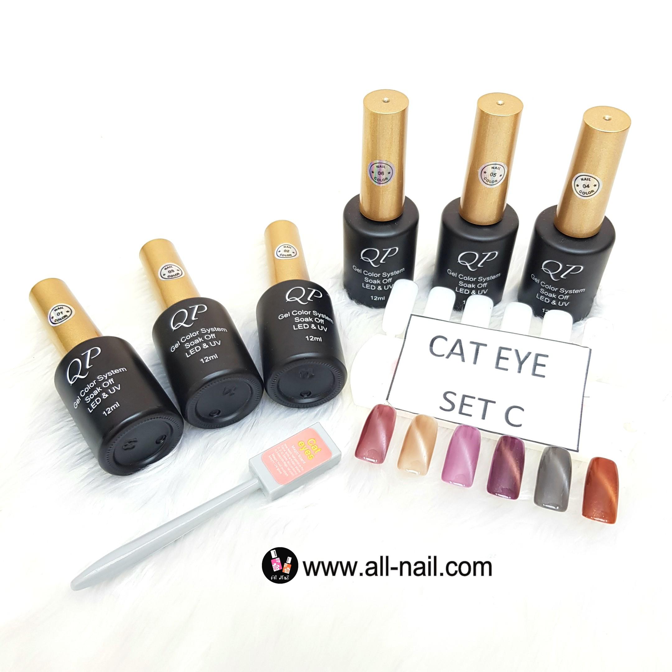 ชุดสีเจลCateye เซ็ทC (แม่เหล็ก ตาแมว)
