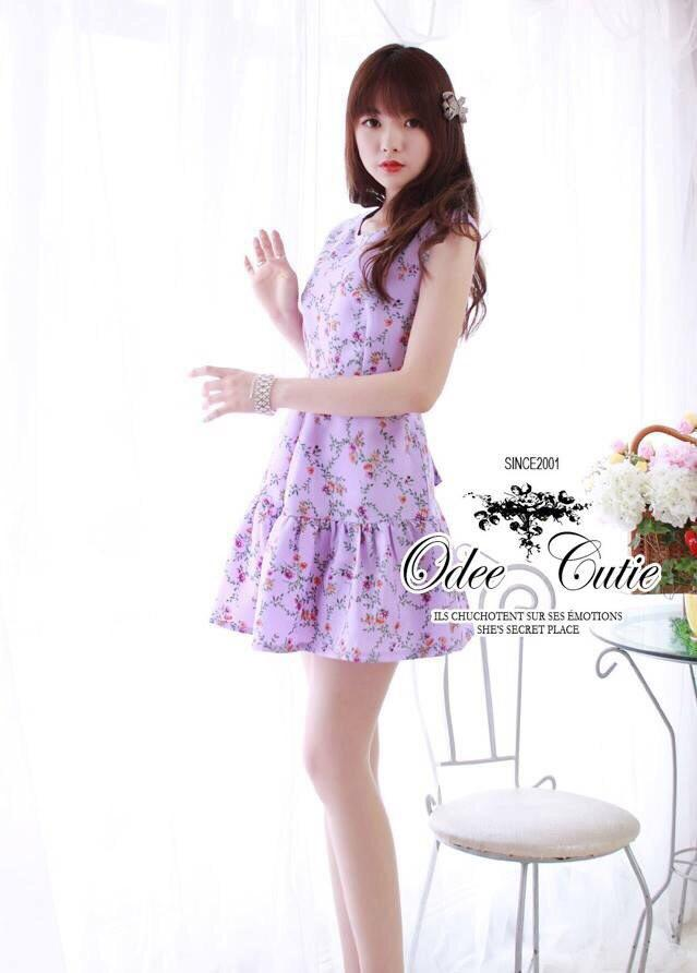 Vio-pink gloria flower dress