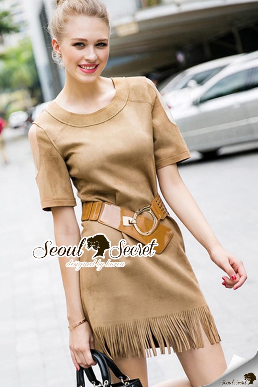 Loose Wool Chic Chocco Dress