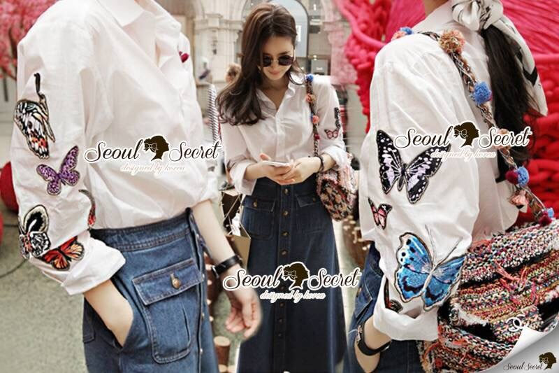 Colorry Butterfly Ivory Shirt