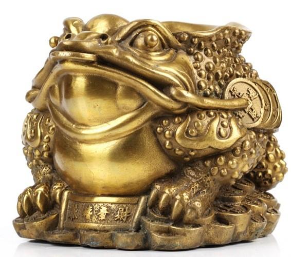 เซียมซู้มงคลกบมงคลคาบเหรียญบนก้อนทอง อวยพรโชคลาภ