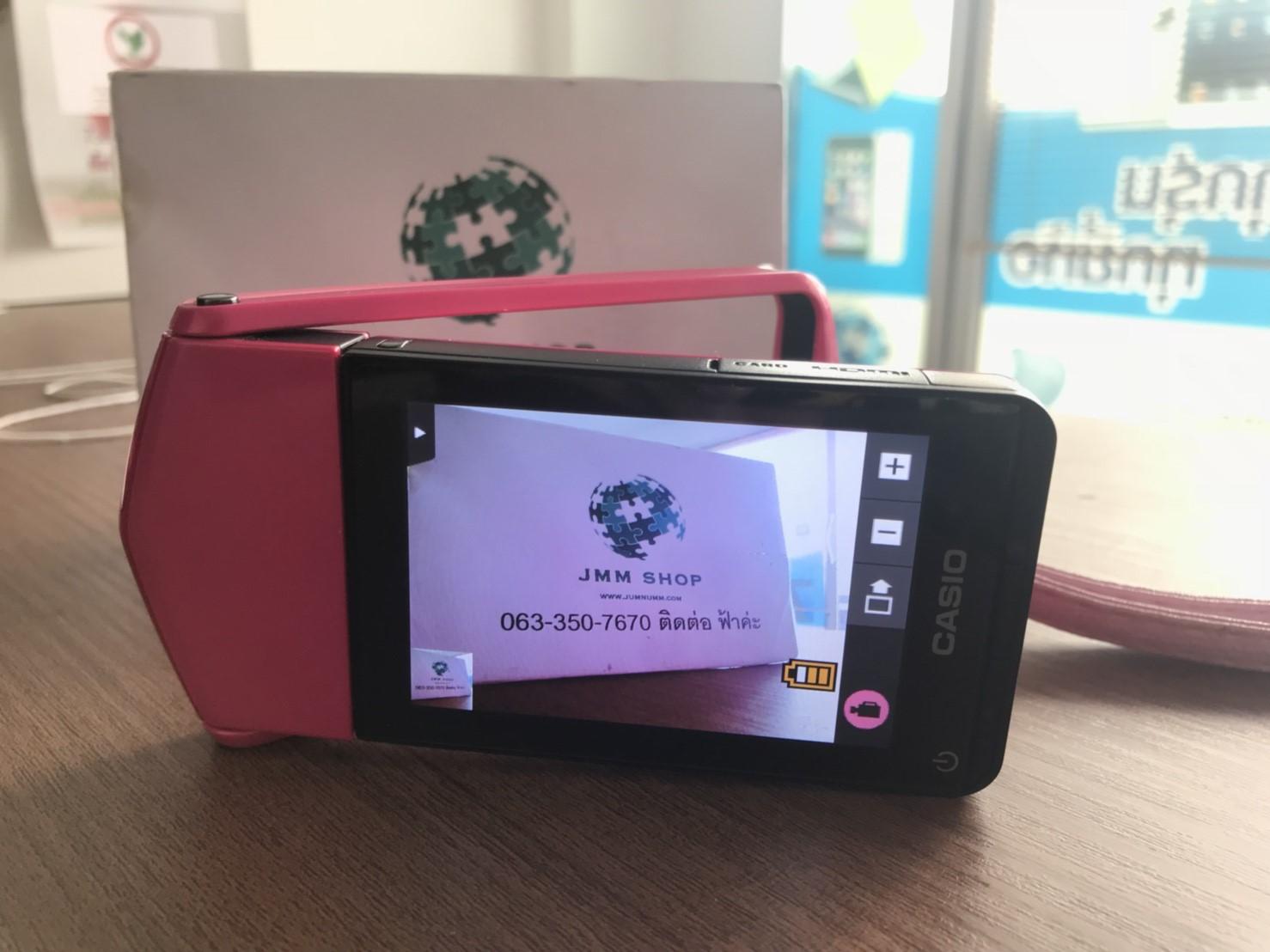 JMM - 142 ขายกล้องฟรุ้งฟริ้ง casio TR 350s สีชมพู
