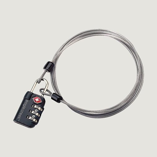 EAGLE CREEK | 3-Dial TSA Lock® & Cable - Graphite