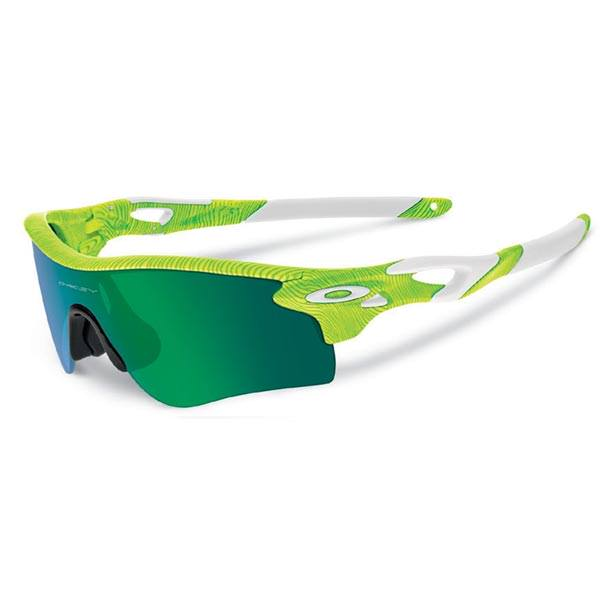 Oakley Radarlock Path : FingerPrint Retina Burn / Jade Iridium + Black Iridium Lens