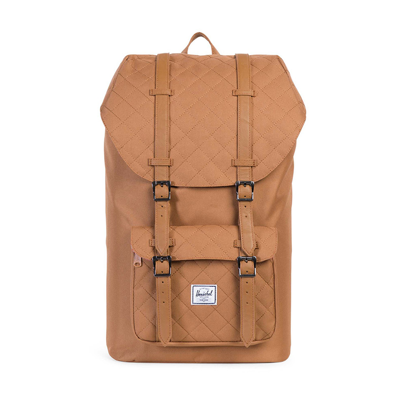 Herschel Little America - Caramel Quilted / Caramel Synthetic Leather