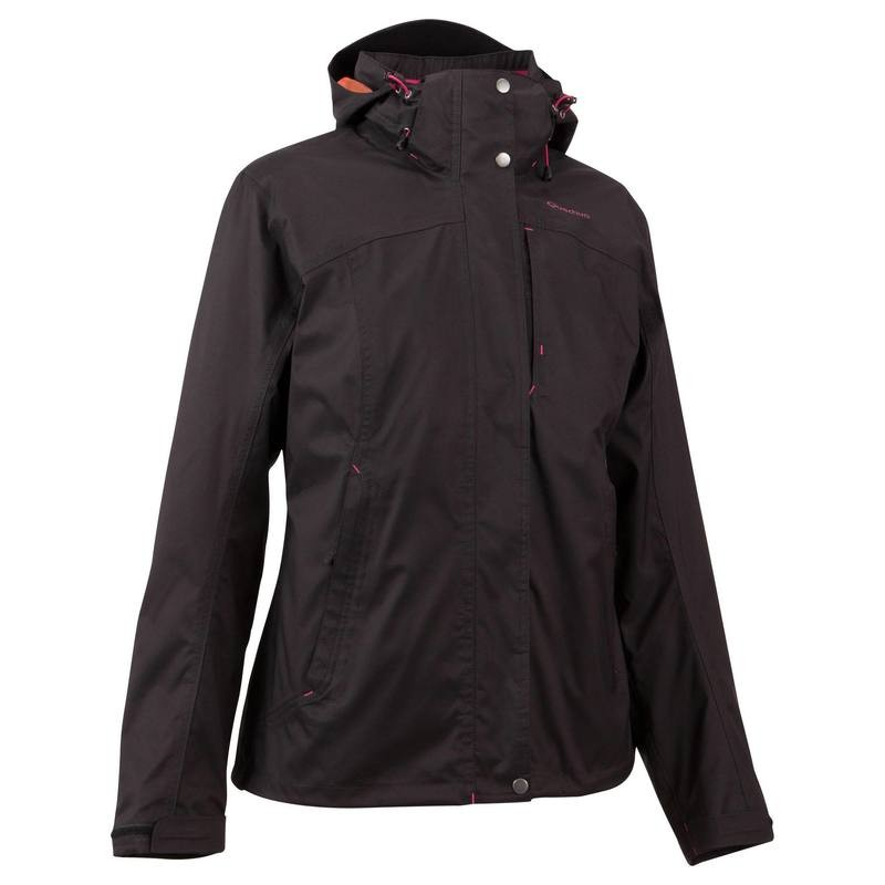 QUECHUA Women's Waterproof Jacket 3 in 1 - Black
